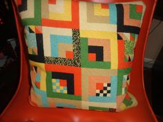 VTG MID CENTURY MODERN Estate MOD Geometric Abstract Needlepoint Chair Pillow by ModSquadPicking, via Flickr