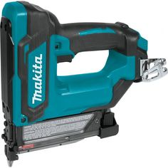 The Makita maximum CXT lithium-ion cordless pin nailer, (model tool only, batteries and charger sold separately), is a hose-free solution for finish and trim work. Best Woodworking Tools, Woodworking Bench, Woodworking Organization, Woodworking Quotes, Japanese Woodworking, Woodworking Store, Woodworking Logo, Woodworking Magazine, Woodworking Workshop
