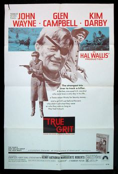 JOHN WAYNE True Grit original 1969 movie poster by Posteropolis