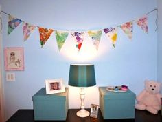 Kid art overload? Turn it into a bunting!