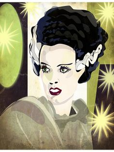 The Bride of Frankenstein #art #horror  #movies