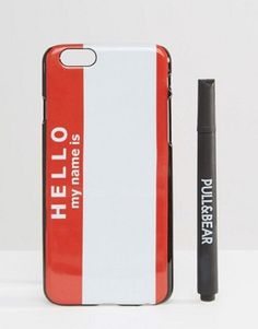 Pull&Bear Hello White Board IPhone 6 Case