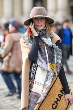 #streetstyle from Paris Fashion Week 2014 Anya Ziourova, photo Diego Zuko