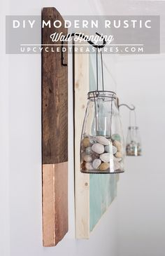 Looking for a DIY project? Check out how easy it is to create this vertical Modern Rustic Wall Hanging from salvaged wood | MountainModernLife.com