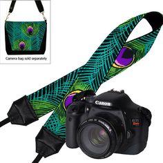 Dslr Camera Strap Slr Digital Camera Padded Strap Nikon Canon  Peacock Feather teal purple green (MTO) by janinekingdesigns on Etsy https://www.etsy.com/listing/89454356/dslr-camera-strap-slr-digital-camera