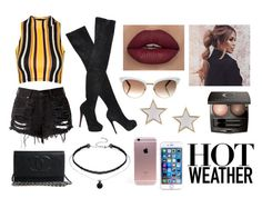 """""""Hot whether"""" by nathaliabello on Polyvore featuring moda, Topshop, Christian Louboutin, Gucci, Chantecaille e Givenchy"""