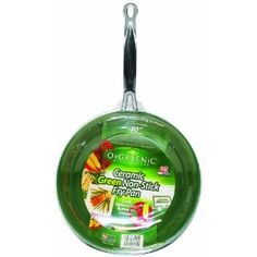 Orgreenic Frying Pan.  Seriously the BEST pan I've ever used.  Seasoned with coconut oil and NOTHING sticks!
