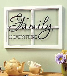 FAMILY White Wooden Window Pane Frame Sentiment Decor Shabby Chic Cottage Wall Hanging Inspirational Home Accent Plaque Decoration ** You can find more details by visiting the image link.