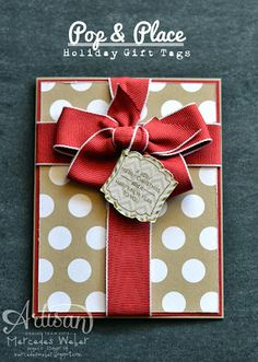 "Lovely Polka Dot ""Gift"" Card & Tag...Mercedes Weber:  Creations by Mercedes."
