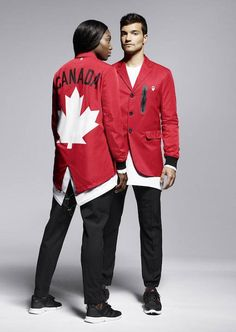 Team Canada Rio 2016 uniforms The Canadian design duo between high-end label Dean and Dan Caton, designed this year's Olympic uniforms for Rio Olympic Games, Olympic Team, Rio Games, Rio Olympics 2016, Summer Olympics, Rio Olympics Opening Ceremony, Olympic Committee, Olympic Athletes, Sports Uniforms