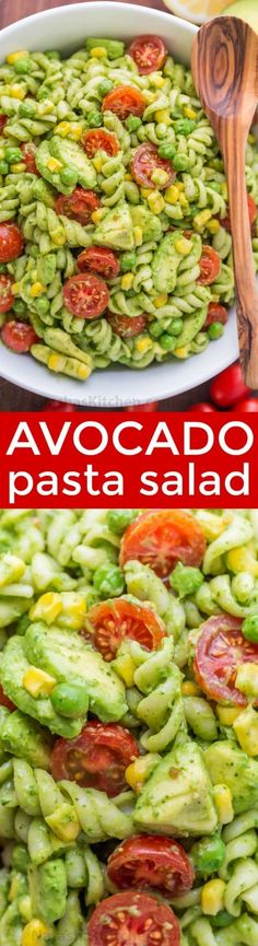 The secret ingredient in this Creamy Avocado Pasta Salad recipe will impress you! This avocado pasta salad is easy, creamy, vibrant, fresh and so satisfying! In partnership with Kroger Co | natashaskitchen.com
