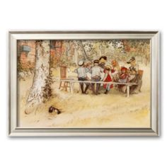 "Art.com ""Breakfast under the Big Birch"" Framed Art Print by Carl Larsson"