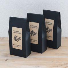 コーヒーのかっこいいパッケージ<br />【ラベルテンプレート】