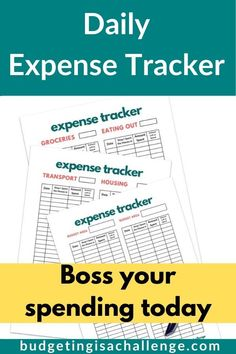 Do you want financial peace of mind? With the daily expense tracker, keep an eye on what you are spending & where! it's time to take control of your finances! Finance Tracker, Finance Blog, Finance Tips, Ways To Save Money, Money Saving Tips, Money Tips, Financial Peace, Financial Goals, Budget Help