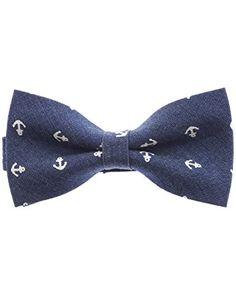 FLATSEVEN Mens Pre-Tied Anchor Design Casual Denim Bow Tie (YB002) DarkBlue FLATSEVEN http://www.amazon.com/dp/B00LAZEOIS/ref=cm_sw_r_pi_dp_WdYZub0C0SBFS  #FLATSEVEN #men #fashion #bow tie #mens fashion