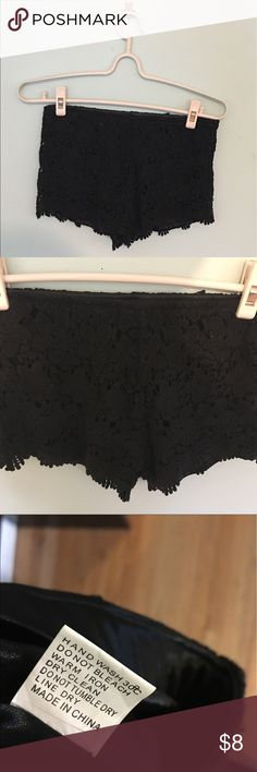 Lace black shorts Can fit a XS or small No flaws, great condition Never worn because it doesn't fit me  *** MOVE OUT SALE  I'm moving out by the end of this month so everything must go or will be donated!!  Reasonable Price is negotiable :)  Just comment/message me !!!  Bundle my items to save up for discount Shorts