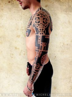 Manica   pettorale   schiena marchesana   stile marchesano blackwork    Tattoo by Michelangelo   Tribal tattoos   Tatuaggi tribali
