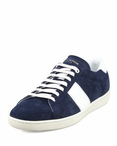 My new summer of '14 kicks.  Suede Striped Low-Profile Sneaker by Saint Laurent.