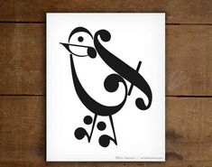 Hey, I found this really awesome Etsy listing at https://www.etsy.com/listing/207532983/music-teacher-gift-music-note-bird-art