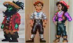 Monkey Island characters perler beads