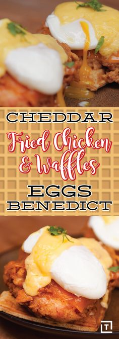 The folks over at Food Steez have really outdone themselves with this cheddar fried chicken and waffle eggs benedict. If juicy fried chicken on top of a warm, fluffy waffle, along with a poached egg and creamy hollandaise sauce doesn't make you drool, you might want to get that checked out.