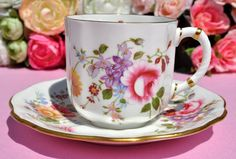 Royal Crown Derby 'Derby Posies' Espresso Cup and Saucer