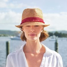Wallaroo Tahiti Straw Hat-Available with taupe or Turquoise Trim - Wallaroo Tahiti Straw Hat-Available with Turquoise TrimNew!The trilby style is the cute, younger sister of the fedora.Wallaroo Tahiti Straw Hat-Available with Red or Turquoise Trim bo Cover Ups For Beach, Hats For Small Heads, Floppy Hats, Straw Hats, Women's Hats, Raffia Hat, Trilby Hat, Sun Hats For Women, Thing 1