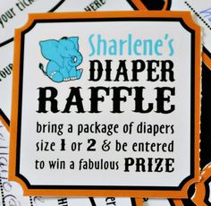 I like the idea of bringing diapers to be entered into a raffle!