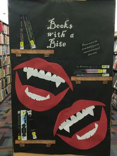 Books with a Bite-End-Cap display (teen) at North Hill--I'm so proud of my fake shelves!