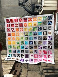 I am so excited to finally be sharing my City Sampler quilt with you today! This quilt has been in the making since August 2016 when I partic...