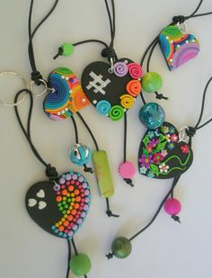 Hand Bag Charms and Keychains by --- these are amazingly adorable Polymer Clay Kunst, Cute Polymer Clay, Polymer Clay Necklace, Polymer Clay Pendant, Fimo Clay, Polymer Clay Projects, Polymer Clay Charms, Polymer Clay Creations, Clay Crafts