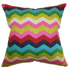 Aiome Zigzag Cotton Throw Pillow
