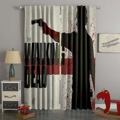 Printed The Walking Dead Style Custom Living Room Curtains – Westbedding Boys Room Curtains, Bay Window Curtains, Beige Curtains, 3d Curtains, Printed Curtains, Custom Curtains, Panel Curtains, Custom Bedding, Walking Dead