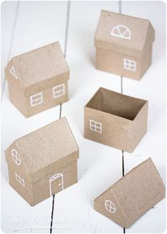 diy Make a small town of house boxes.