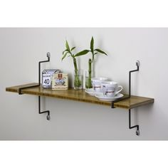 You'll love the Single Bamboo Shelf with Straight Brackets at Joss & Main - With Great Deals on all products and Free Shipping on most stuff, even the big stuff.