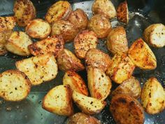 Roasted Potatoes - My review (10/02/14): delicious, but very, very spicy (with the red pepper flakes and pepper!) Too spicy for my kids but a nice change for the adults. If I made again, I'd divide the batch in half and omit the red pepper flakes on one for the love of my kids :) Lisa Twinmomma