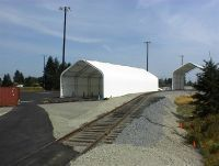McMillan Piper, Seattle WA. 2 shelters  Gable Style    44ft W x 120ft L x 33ft H with 20 side wall    44ft W x 60ft L x 36ft H with 24 side wall    Equipment storage