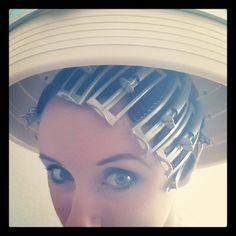 Sitting Under the Hair Dryer | Sitting under the dryer, roasting the carefully set hair