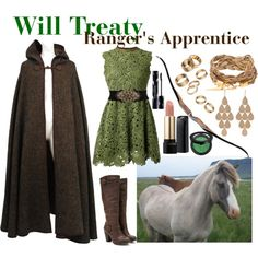 Rangers Apprentice by hyperducky on Polyvore featuring Valentino, Yves Saint Laurent, Forever 21, Irene Neuwirth, Apt. 9, Lancôme, Shiseido and Sephora Collection