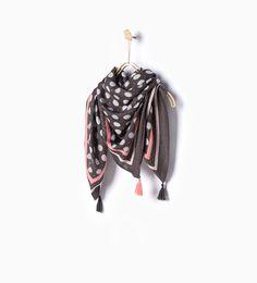 ZARA - NEW IN - Circle design neckerchief