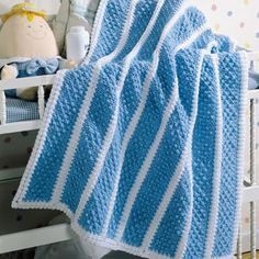 ❤❤❤ DIAMOND BABY BLANKET ❤❤❤ Love this simple beauty diamond-pattern popcorns - Easy ~ Crochet baby blanket