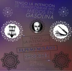 """#Intenciones """"Tengo la intención de transformar mis miedos en gasolina"""" #Moonboard #LunaNueva en #Escorpio @miastral @tantrasurbanos"""