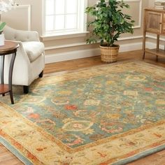 Safavieh Handmade Legacy Light Blue Wool Rug (9' x 12') | Overstock.com Shopping - The Best Deals on 7x9 - 10x14 Rugs