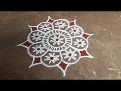 Easy Rangoli Designs Diwali, Rangoli Simple, Rangoli Designs Latest, Rangoli Designs Flower, Free Hand Rangoli Design, Rangoli Border Designs, Rangoli Designs Images, Rangoli Ideas, Rangoli Designs With Dots