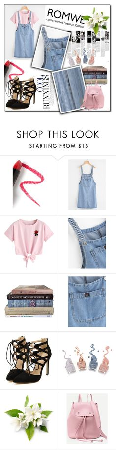 """""""#romwe #denim #dress #heels #cool"""" by nicollestyle ❤ liked on Polyvore featuring Lapcos and WithChic"""