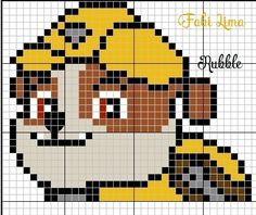 C2c Crochet, Learn To Crochet, Crochet Stitches, Rubble Paw Patrol, Fuse Beads, Perler Beads, Cross Stitch Charts, Cross Stitch Designs, Crochet Backpack