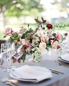 This gorgeous garden party tablescape is one we'd be happy to sit at every single day! Photography: @josevilla | Event Planning: @bustleevents | Floral Design: @nicamille | Hair + Makeup: @teamhairandmakeup | Catering + Cake: @paulaleduc | Linens: @latavolalinens