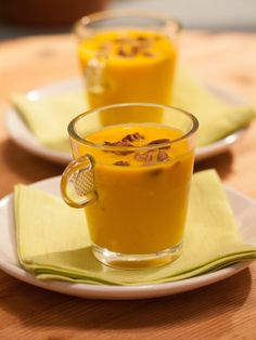 Sunny's Quick Chilled Carrot Soup Recipe : Sunny Anderson : Food Network - FoodNetwork.com can be warm