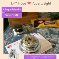 It's a food, it's a craft, it's a gift- whichever way you use it, it's top 8 allergy-friendly. Printable Here: http://allergyphoods.com/wp-content/uploads/2016/05/PaperweightRecipe.pdf #TracyBNutrimom #YouTube #paperweight #enjoylifefoods #diygift #gift #foodgift #seebutdonttouch #foodie #foodporn #shareit #top8free #allergyfriendly #allergyfriendlyfoodcraft