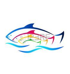 logo familia: Peces de colores y tarjeta de visita identidad mar                                                                                                                                                      Más